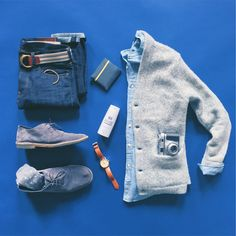 Layered navy and gray