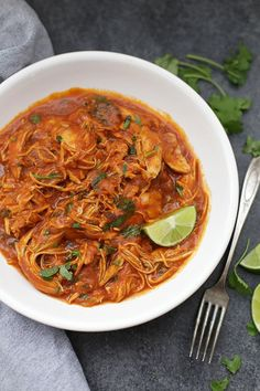 Paleo Slow Cooker Butter Chicken! This paleo recipe is a perfect HEALTHY slow cooker dinner!
