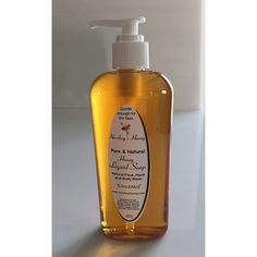 Natural Liquid Honey Soap Face, Hand, and Body Best Homemade Bee Soap, Organic