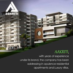 The Aakriti has been addressing in opulence Residential apartments and luxury Villas. #Flats, #Villas and #apartments #sale #Hyderabad http://www.aakritihousing.com