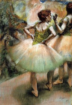 $118, Dancers Pink and Green 2