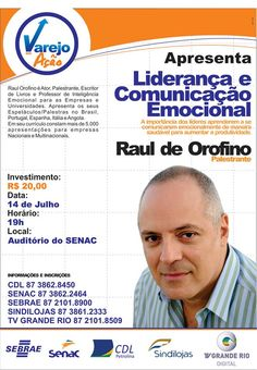 Não percam esta fantástica #Palestra, com o #Palestrante #RaulDeOrofino !!!   www.prismapalestras.com