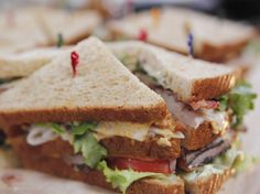 Colossal Club Sandwiches recipe from Ree Drummond via Food Network