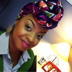 naturalhairdoescare:  #NHDCDoublefeature with #turbanator... #AfricanHeadWrap #AfricanPrints #AfricanStyle #AfricanInspired #StyleAfrica #AfricanBeauty #AfricaInFashion #ItsAllAboutAfricanFashion