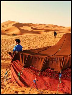 Desert living in Erg Chebbi, Morocco.