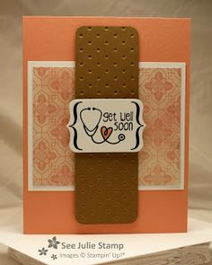 Stamp Sets:Tag It (Buy this stamp set and Stampin' Up! will donate $3 to RMHCR) Colors:Whisper White, Baked Brown Sugar, Crisp Cantaloupe DSP:Venetian Romance Big Shot:Chalk Talk FramelitsTM, Perfect Polka Dots Textured Impressions TM Folder