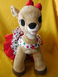 Build-a-Bear RUDOLPH/CLARICE REINDEER Red Heart Light Holiday 15 in. #BuildaBear