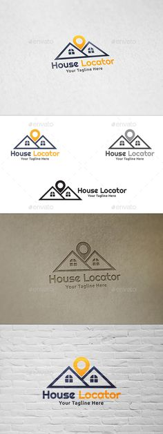 House Locator - Logo Template by martinjamez Logo Features100 Vector Color Variations : Gradient, Flat, Greyscale & Black File Format :AI & EPSColor Mode :CMYKFont used : Rig