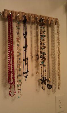 cork jewelry organizer