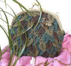 """Купить Сумочка """"Дубрава"""" - сумка женская, сумка ручной работы, сумочка, сумка с декором, фермуар"""