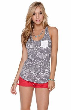 Nollie Raw Edge Racerback Pocket Tank at PacSun.com on Wanelo