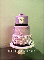 purple baby cake