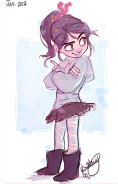 Vanellope Doodle! Vanellope belongs to Disney
