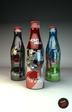 Disney Coke bottles by Cenika