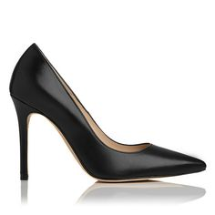 Fern is a capsule wardrobe essential. Crafted from sleek black kid leather, this pointed pump stands on a single sole and veritiginous 95mm heel, perfect for elevating your style status both day and night. Let Fern be the punctuation point to everything from skinny leather trousers to tailored pencil skirts, on or off duty. This may just become the most-worn style in your shoe portfolio.
