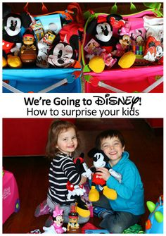 Surprising the kids with a trip to Disney - how to surprise toddlers and get a big response + tips in the comments for planning a trip to Disneyland
