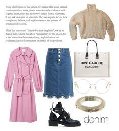 """Denim Skirt"" by shevkovskayav on Polyvore featuring See by Chloé, Yves Saint Laurent, TIBI, Balenciaga, Chanel and Chloé"