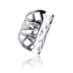 "Bague ""Lunéa"" - Vélizance - Argent  #Bijoux #Jewels #Silver #Gold #Design #Tendance #Bijou #FashionJewelry #Velizance"