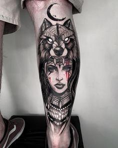 Essa é a última tatuagem que cumpre a . Trible Tattoos, Forarm Tattoos, Dope Tattoos, Leg Tattoos, Black Tattoos, Body Art Tattoos, Tattoos For Guys, Sleeve Tattoos, Wolf Girl Tattoos