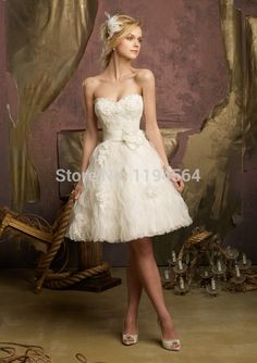Cheap dress multiply, Buy Quality dresse directly from China dresses dance Suppliers:   2015 A Line Short Wedding Dresses Ivory Organza Ruffles Vestido De Noiva Bridal Gowns Sweetheart Beading WH772    &nbs