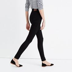 """Our favorite legs-for-days fit crafted with the very latest in denim technology for jeans that will boost everything you've got—confidence included. The sky-high 10"""" rise has a supersleek effect, thanks to a tricky new detail—Magic Pockets in front that offer an extra layer of holds-you-in sorcery for the slimmest, smoothest look yet (plus, a touch of added stretch ensures you're still totally comfortable). Bonus: This pair was specially dyed to stay dark for longer than ever. &l..."""