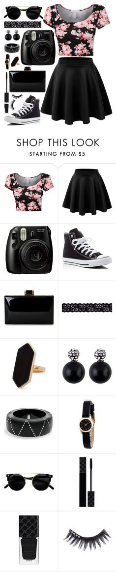 """She was a Skater Girl"" by rndmchick ❤ liked on Polyvore featuring Fujifilm, Converse, Akira, Jaeger, Alexis Bittar, Marc by Marc Jacobs, Gucci and Manic Panic NYC"