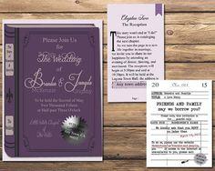 The Literary Wedding ~ Book And Library Themed Wedding Invitation Set~  Custom U0026 Printable *