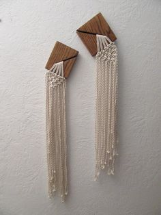 Set of Two Small Modern Macrame Wall Hangings by TIEDbyLoretta