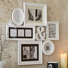 Cadre photos pêle-mêle galerie photo pour 10 photos blanc: Amazon.fr: Cuisine & Maison