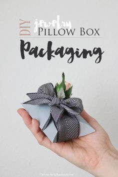 #Tutorial - How to make a pillow box for jewelry gifts. Free pattern included. Enjoy from #KnittingGuru ** http://www.KnittingGuru.etsy.com