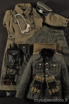 ss 14 Ww2 Uniforms, German Uniforms, Military Uniforms, Military Jacket, Afrika Korps, Gi Joe, World War Ii, Diorama, Color