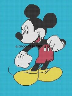 Disney Crochet Graph Afghans Patterns | CROCHET PATTERNS MICKEY MOUSE AFGHAN GRAPH E-MAILED.PDF ...