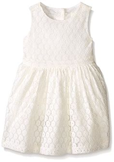 Crazy 8 Girls Lace Woven Dress Jet Ivory 1824 -- Click on the image for additional details.