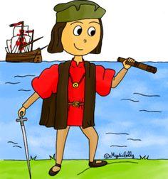 Histoire en dessins - Christophe Colomb