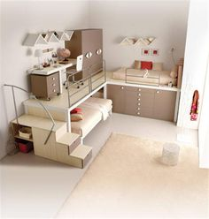 Modern Cool Bunk Beds and Lofts for Kids and Teenagers Bedroom Ideas |