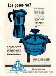 Página Publicidad Original *SEB-MAGEFESA · Cafetera y Olla* Agencia Publicidad DANIS - Año 1961