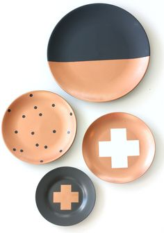 Metallic Copper Plates Spots, Cross and Dipped www.cloudninecreative.co.nz