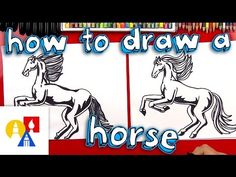 How To Draw A Realistic Horse (Part 1) - Art For Kids Hub -