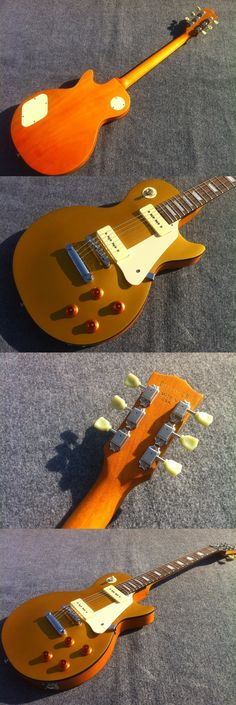 Free Shipping Metallic Gold Sparkle P90 Pickups Standard LP electric guitar Guitarra all color Accept
