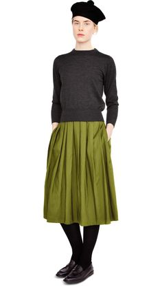 margaret-howell fall 2012. Sweater,skirt, and tights. Hat and shoes, not so much.