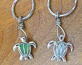 Honu Sea Glass Turtle Keychain Honu by Wave of Life