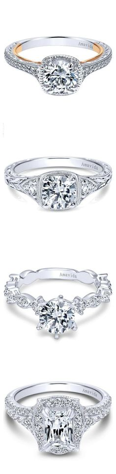 Vintage style details set these Amavida Diamond Engagement Rings Apart. Visit Ben Garelick Jewelers to see more