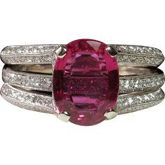'NO HEAT' 2.06ct Ruby & Diamond Simon G Engagement Ring Set