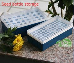 Free shipping,1 pc,Seed bottle storage box Large or Small size seeds storage,vegetable ,flower planting,garden supplies