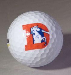 14fdb4e6f7a9f2 Vintage Denver Broncos Logo Golf Ball Brand New! NFL Old Logo! # DenverBroncos