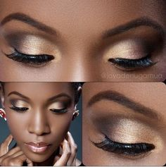 Natural make-up on brown skin!! Love it!!
