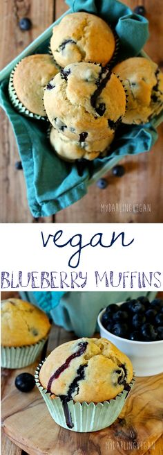 What's better than a perfectly moist blueberry muffin? How about a vegan version? With a hint of lemon and filled bursting with blueberries, these muffins are worth trying. Click through to find the recipe.