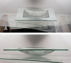 glass bowl - glass fibres