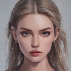 Arte Digital Fantasy, Digital Art Girl, Digital Portrait, Portrait Art, Female Character Inspiration, Fantasy Character Design, Character Art, Beautiful Fantasy Art, Girls Characters