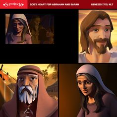 God's heart for Abraham and Sarah brings Isaac. Abraham And Sarah, Story Video, God's Heart, Memory Verse, Bible Stories, Sunday School, Verses